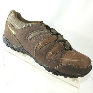 Hi-Tec Size 8.5 M Brown Leather Sneakers L4 C27
